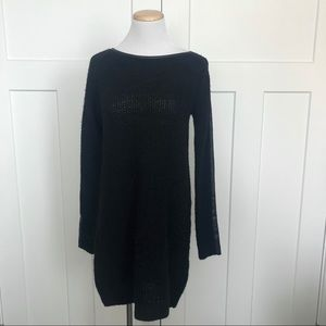 Abercrombie & Fitch Faux Trim Sweater Dress